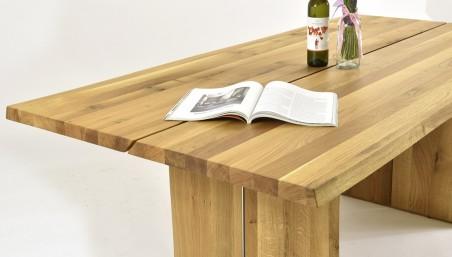 Masivní stůl dub a moderní židle