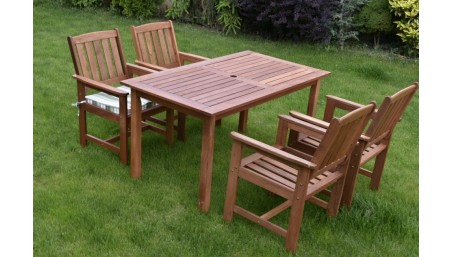 Rozkládací stůl DUB a židle