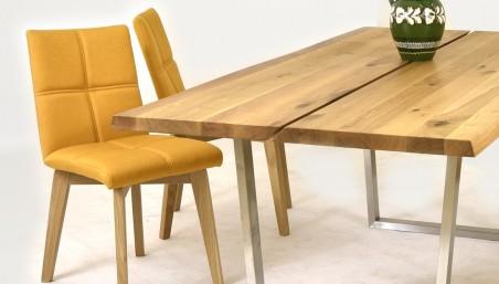 Dubový stůl nohy inox