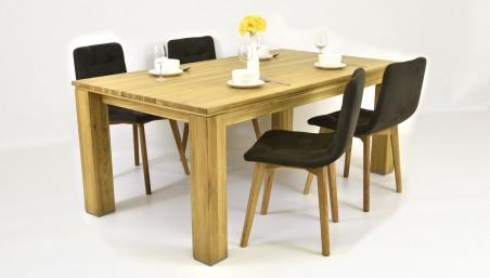 Masivní dubový stůl a židle