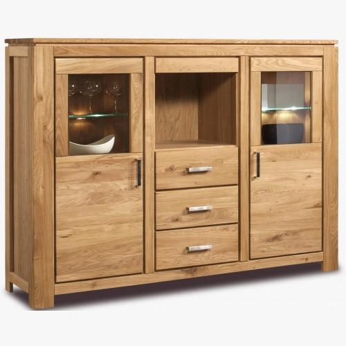 Dřevěný dubový kredenc do jídelny, typ 47