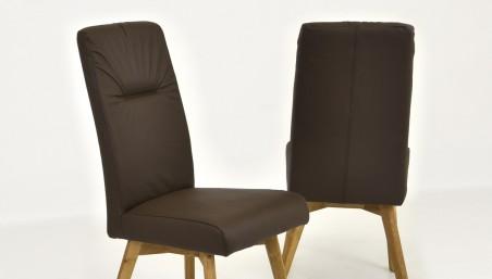 Stůl dub-dýha + 4 x židle károvaná