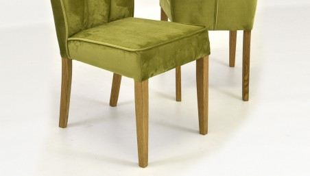 Kožená dubová židle - hnedá