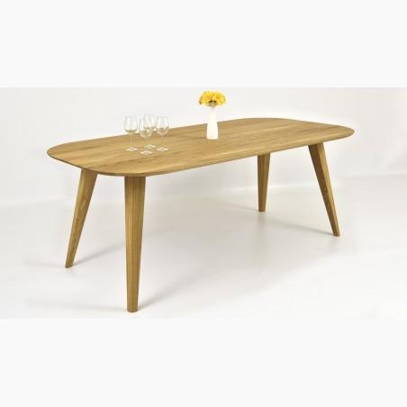 Masivní stůl dub a židle kožené