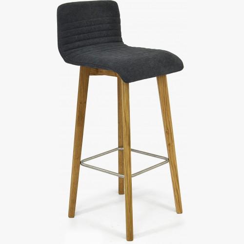 Barová židle dubová, tmavě šedá Arosa