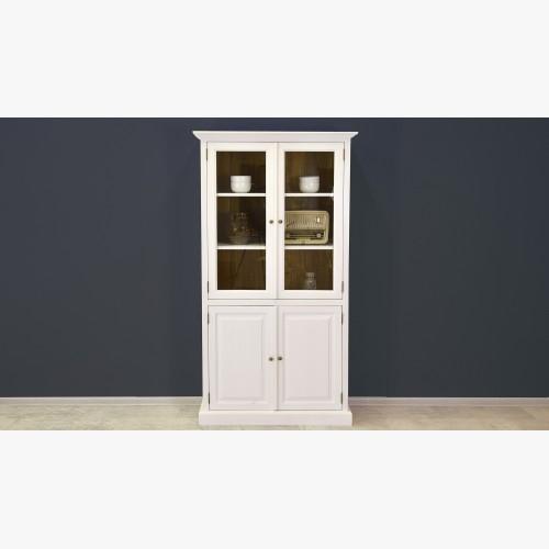 Dřevěná vitrina dvoudveřová v provence stylu, Typ 12
