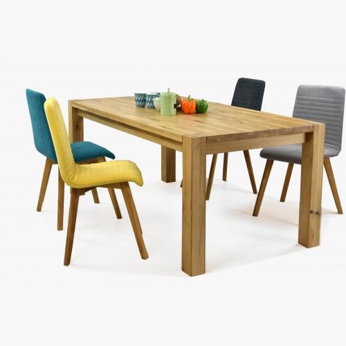 Dřevěný stůl a židle 140 x 90 cm, Dub