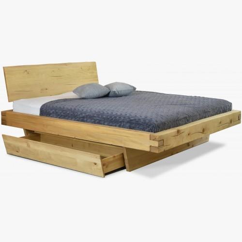 Masivní postel pro dva, smrk - Matúš