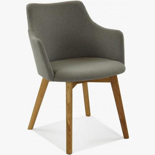 Židle s područkami - Bella, Lady šedo - hnědá