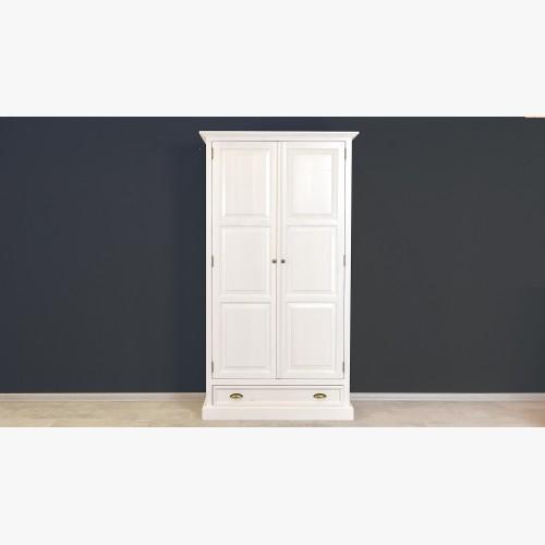 Bílá rustikální skříň - dvoudveřová, France 2D