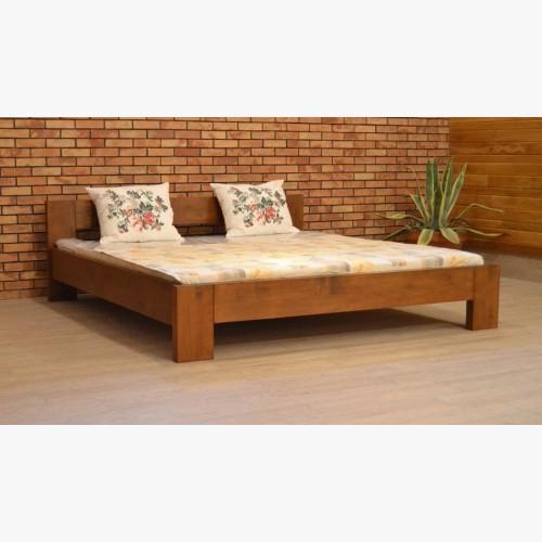 Dřevěná postel manželská, 140,160, 180 x 200 cm barva ořech, L6
