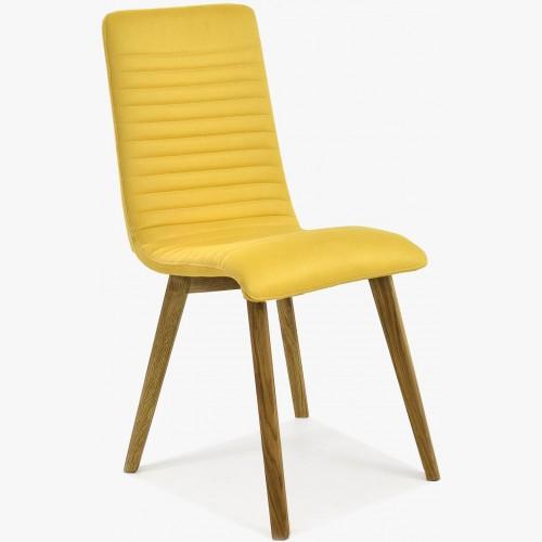 Moderní jídelní židle dub - žlutá, Arosa - Lara