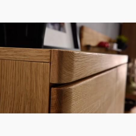Jídelní stůl kulatý - dubový, Tomas