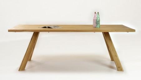 Jídelní stůl dub z jednou nohou, Gresa