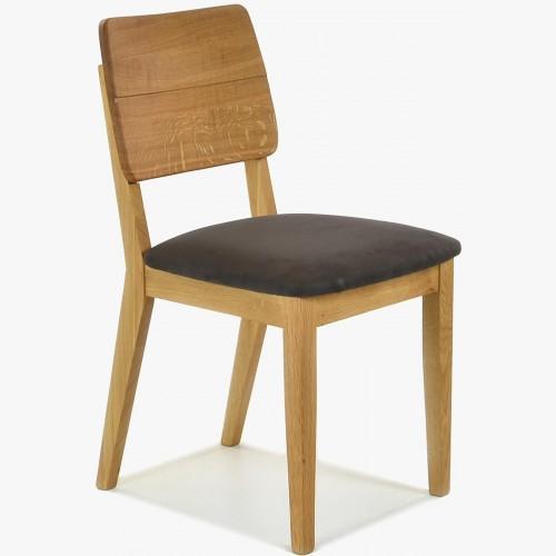 Designová jídelní židle dubová, Norman expresso