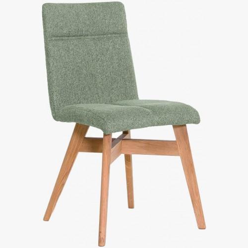 Jídelní židle skandinávský styl, barva zelená Alina