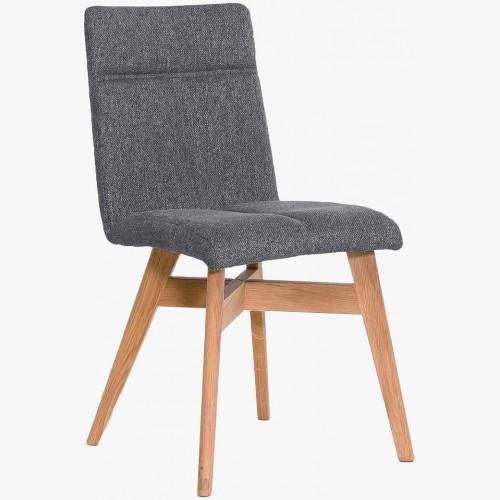 Jídelní židle skandinávský styl, barva šedá  tmavá Alina