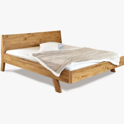 Dubová postel z masivu luxusní dub, marina
