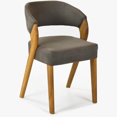 Designová luxusní židle - dub, Almondo - taupe