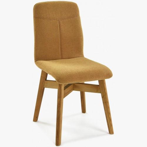 Židle jídelní YORK, hořčicová - easy clean