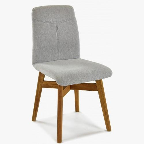 Židle jídelní YORK, šedá - easy clean