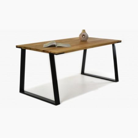 Dřevěný stůl a židle 140 x 90 cm - 180 x 90, Dub