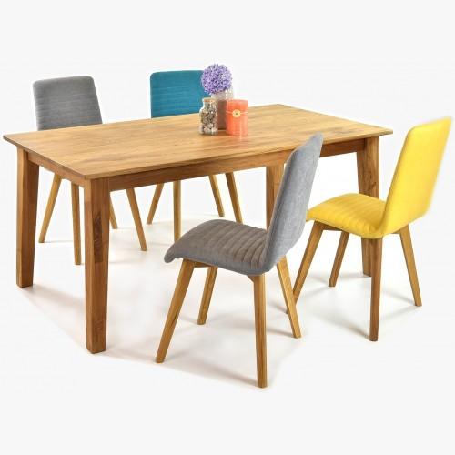 Jídelní stůl z masivu dub MIREK a židle arosa