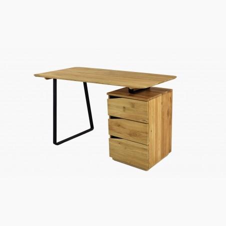 Masivní jídelní stůl včetně židlí