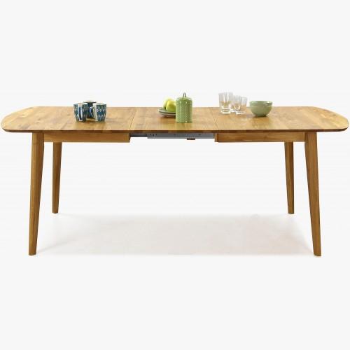 Jídelní stůl z masivu rozkládací dub 160 -210, Arles