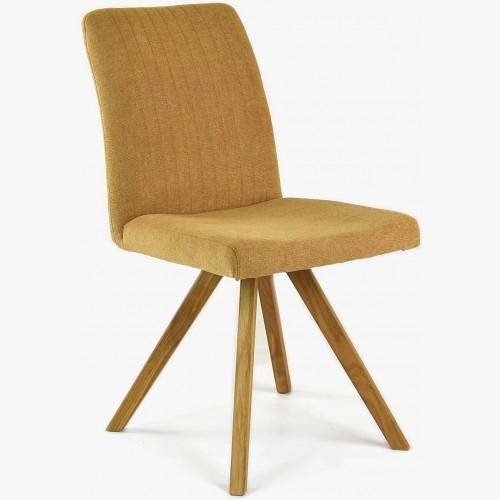 Židle dubové nohy hořčicová, easy clean Paris