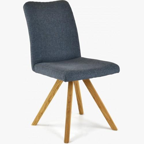 Židle dubové nohy tmavě modrá, easy clean Paris