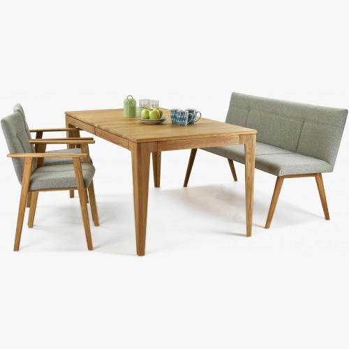 Jídelní sestava včetně lavice a křesílek dub, Alina + Avignon