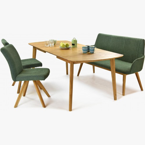 Sestava židle paris a lavice z stolem dub masiv Arles