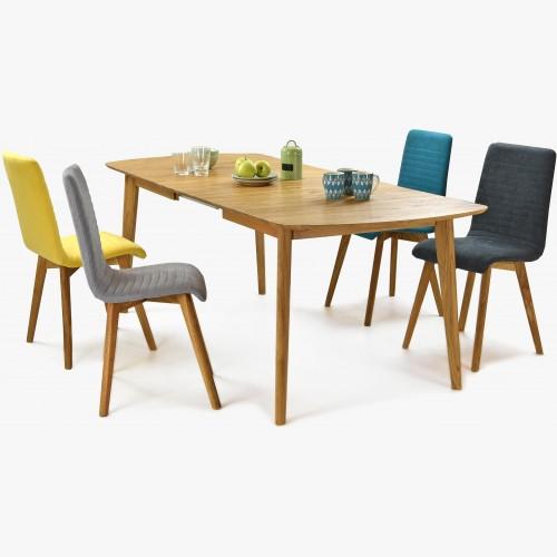 Rozkládací stůl z masivu Arles  a židle Lara - Arosa