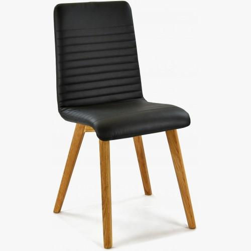 Jídelní židle pravá kůže černá, Model Arosa