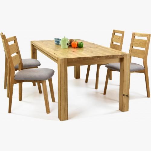 Sestava do jídelny z masivu - stůl košice + židle Virginia