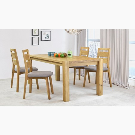 Čalouněná jídelní židle Ján, světle hnědá