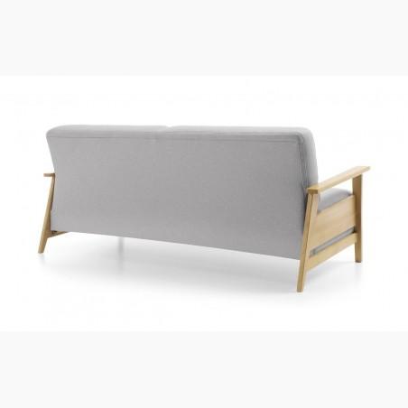 Dubová luxusní postel z trámů zaoblená, Manželská 180, 200 x 200 Mia