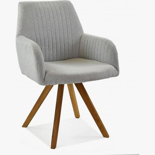 Židle s područkami šedá - nohy dub Paris