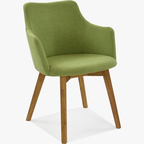 Židle s područkami - Bella, Lady zelená
