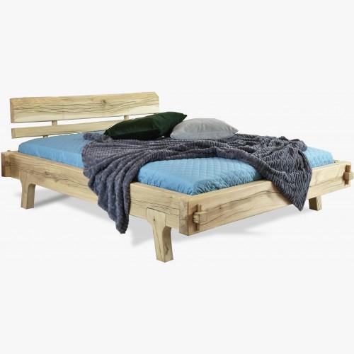 Organická manželská postel Greta - masiv dub