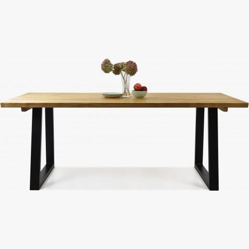 Luxusní stůl z masivu - černé ocelové nohy, Torino