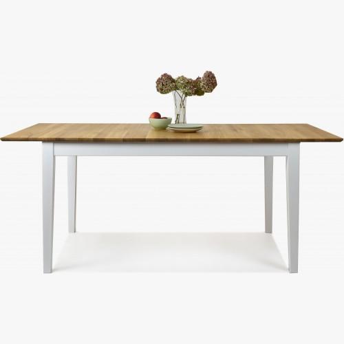 Masivní stůl dub + bílá, Tomino