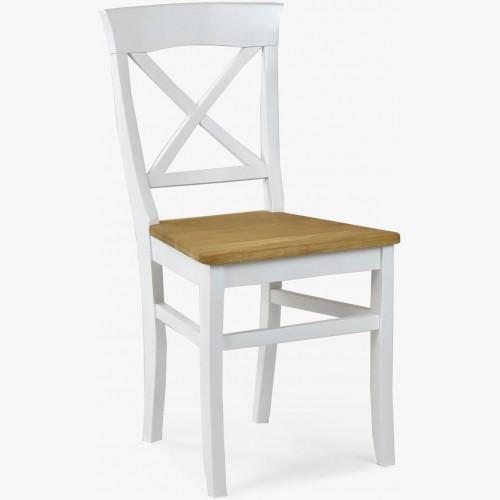 Dubová židle Torina dub + bíla