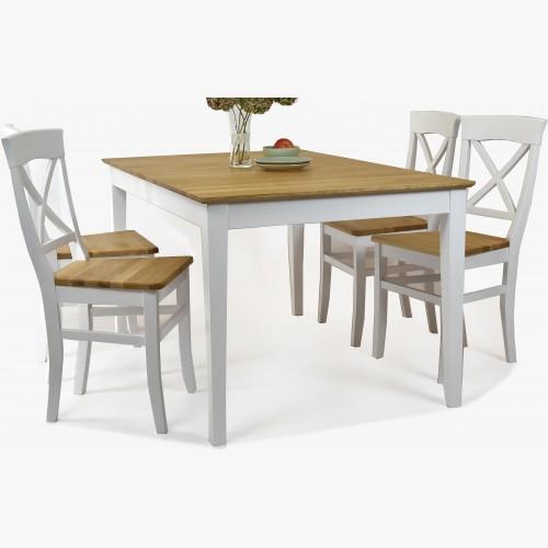 Jídelní stůl a židle masiv v selském stylu, Torina + Tomino