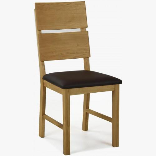 Dubová židle Nora - Pu hnědá - MEGA akce