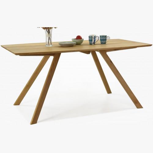 Masivní stůl dub 160 x 90, designové nohy, Kolin