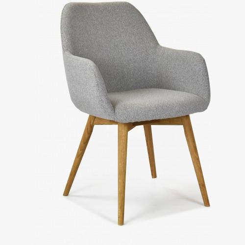 Designová židle s područkami, Sky světle šedá