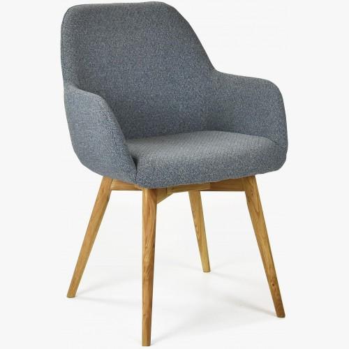 Designová židle s područkami, Sky tmavě šedá