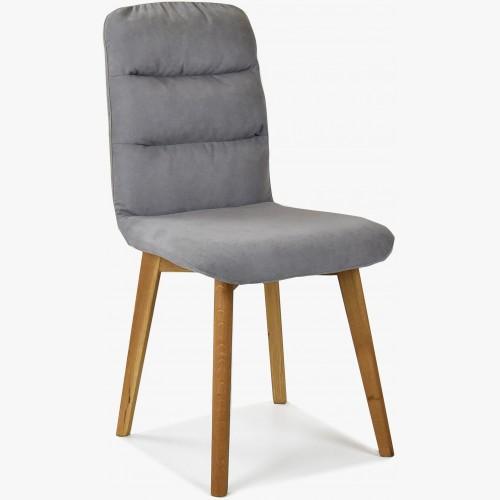 Pohodlná židle, šedá látka - dubové nohy Orlando